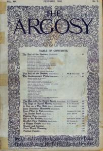 Le premier numéro d'Argosy version pulp