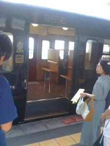 Un train en bois traditionnel