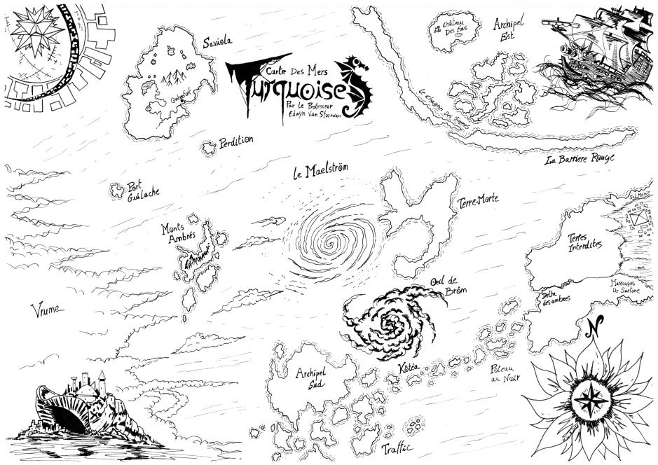 Carte officielle des Mers Turquoises